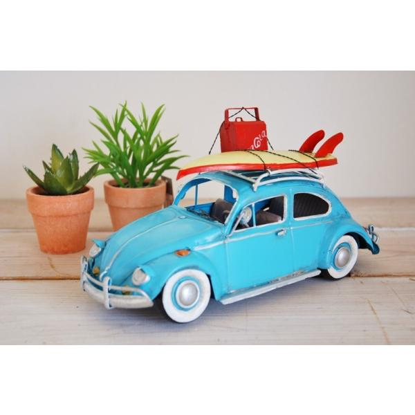 COVENT GARDEN コベントガーデン VW ビートル サーフ ブリキ製 オブジェ レトロ調 サーファー フォルクスワーゲン|zakka-olive