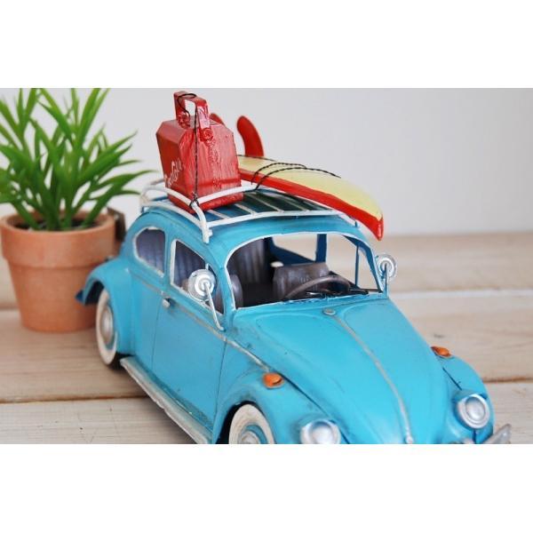 COVENT GARDEN コベントガーデン VW ビートル サーフ ブリキ製 オブジェ レトロ調 サーファー フォルクスワーゲン|zakka-olive|02