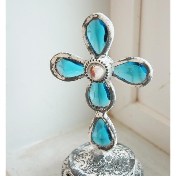 ステンドグラス COVENT GARDEN コベントガーデン エメラルド スタンドクロス   十字架 安い きれい zakka-olive 02