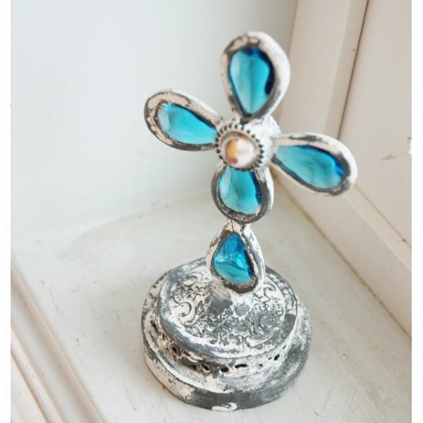 ステンドグラス COVENT GARDEN コベントガーデン エメラルド スタンドクロス   十字架 安い きれい zakka-olive 04