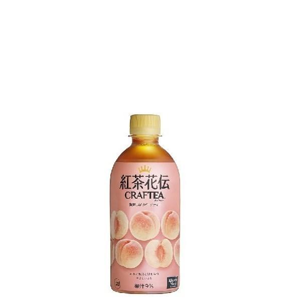 紅茶花伝 クラフティー 贅沢しぼりピーチティー 440mlPET  24本