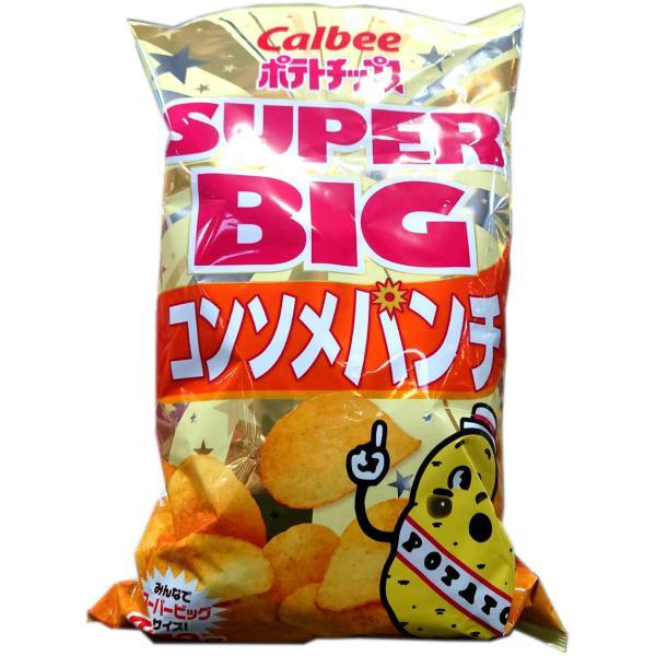 ポテトチップス 大袋 カルビー ポテトチップス スーパービッグ SUPER BIG コンソメパンチ 500g コンソメ