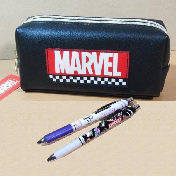 マーベル(MARVEL) 文具セット ツインファスナーペンケース&シャープペン2本の3点 50464-3