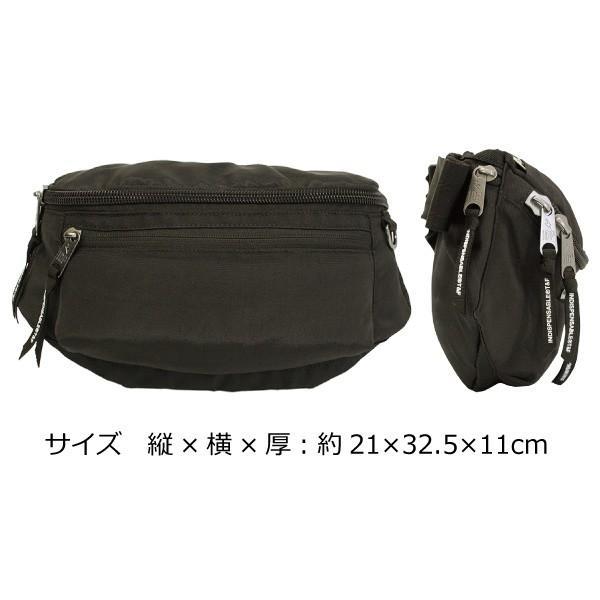 INDISPENSABLE インディスペンサブル ウェストバッグ アタッチ WAIST BAG ATTACH ボディバッグ ウェストバッグ メンズ レディース 14042000 zakka-tokia 04
