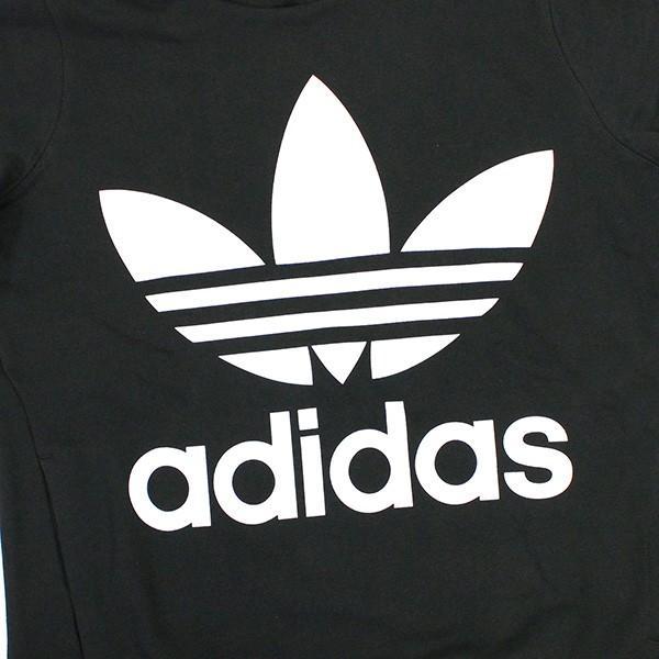 adidas Originals アディダス オリジナルス TREFOIL HOODIE トレフォイル パーカー パーカー レディース ブラック グレー ブルー ルームウェア 部屋着|zakka-tokia|05