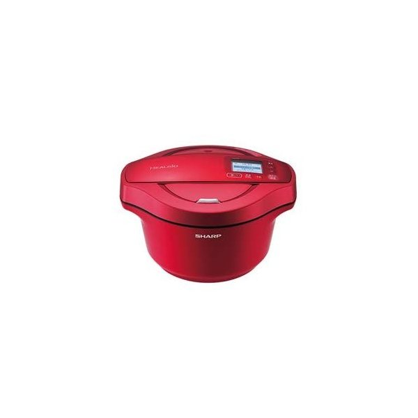 シャープ 水なし自動調理鍋 2.4L レッド系SHARP ヘルシオホットクック KN-HW24C-R|zakka-viento