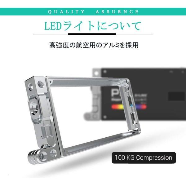 BOLING BL-P1 LEDビデオライト 2500k?8500k 0〜360°フルカラー 彩度調整 明るさ調整 0?100% 140分の zakka-viento 11