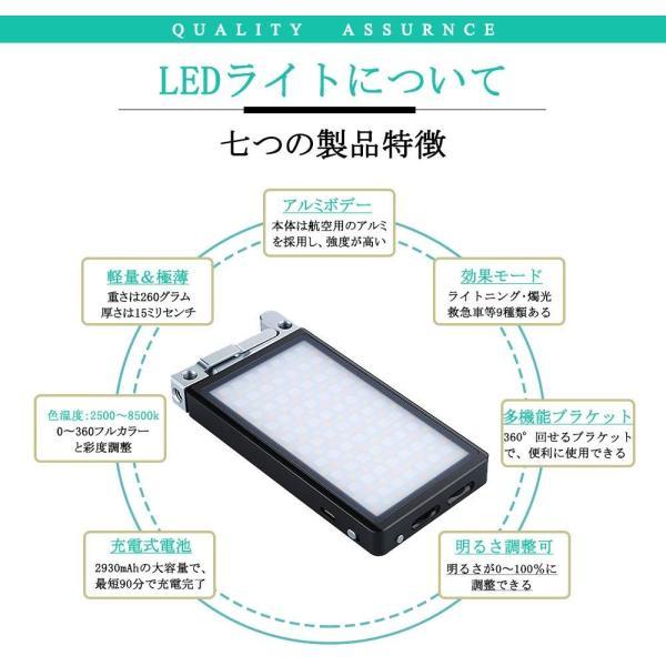 BOLING BL-P1 LEDビデオライト 2500k?8500k 0〜360°フルカラー 彩度調整 明るさ調整 0?100% 140分の zakka-viento 12