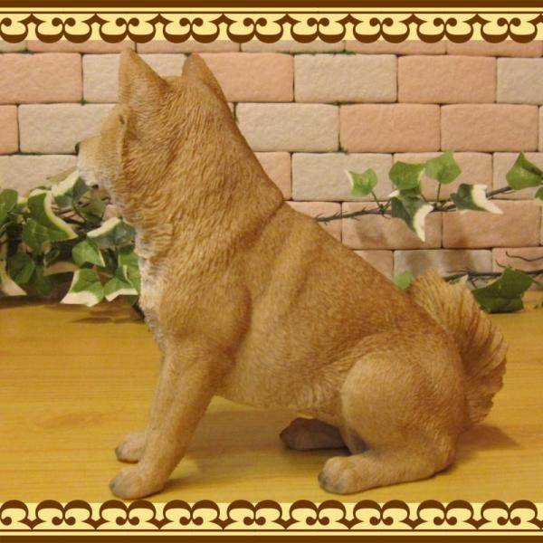犬の置物 柴犬 お座りタイプ 柴 成犬  リアルなイヌのオブジェ いぬのフィギア 動物オブジェ ガーデンオーナメント 装飾 フィギュア モチーフ|zakkakirara|07