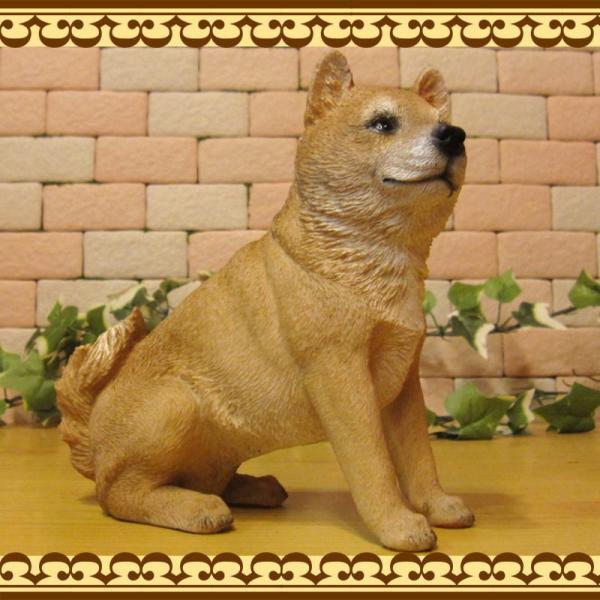 犬の置物 柴犬 お座りタイプ 柴 成犬  リアルなイヌのオブジェ いぬのフィギア 動物オブジェ ガーデンオーナメント 装飾 フィギュア モチーフ|zakkakirara|08