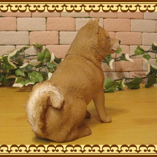 犬の置物 柴犬 お座りタイプ 柴 成犬  リアルなイヌのオブジェ いぬのフィギア 動物オブジェ ガーデンオーナメント 装飾 フィギュア モチーフ|zakkakirara|09