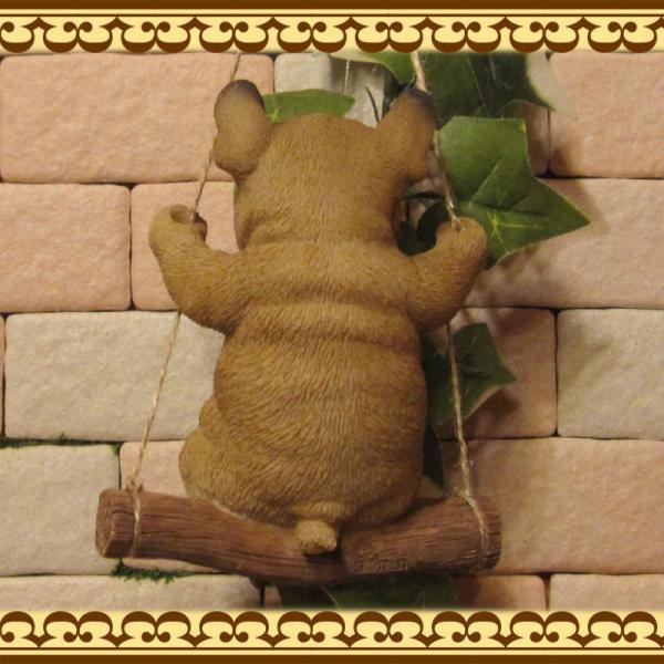 犬の置物 フレンチブルドッグ リアルな犬の置物 ブランコドッグ Bタイプ フレブル 子いぬのフィギア イヌのオブジェ ガーデニング 玄関先 陶器|zakkakirara|07