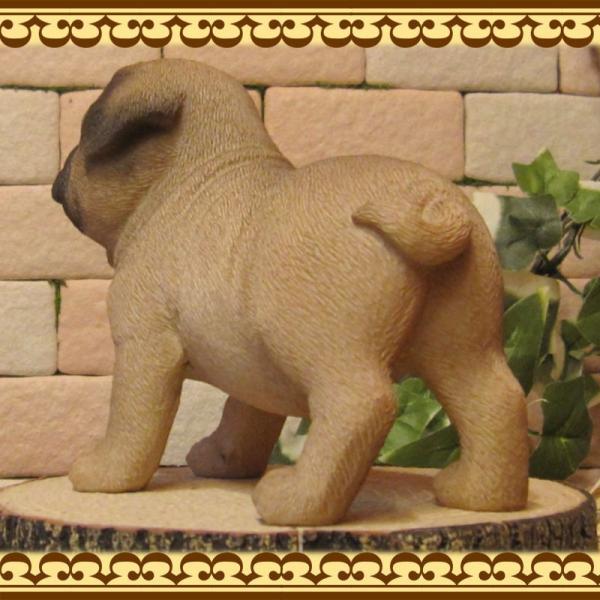 犬の置物 パグ スタンド スモールサイズ リアルな犬の置物 子いぬのフィギア イヌのオブジェ ガーデニング 玄関先 陶器 zakkakirara 07