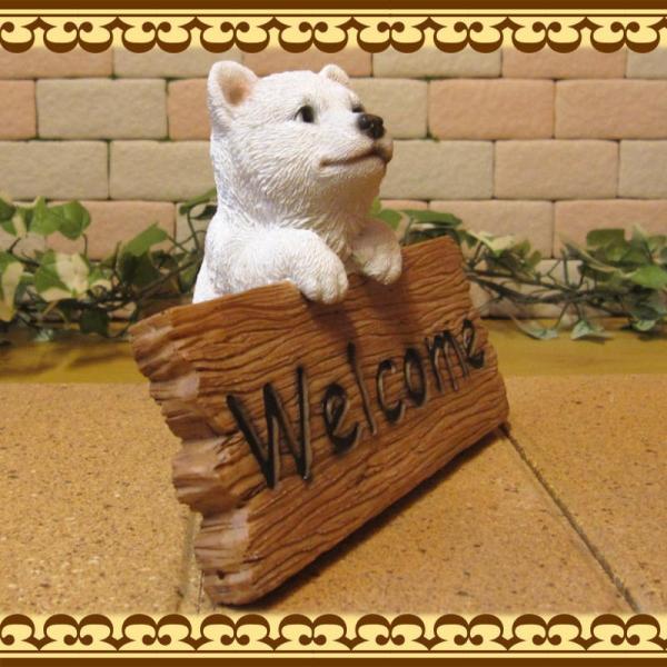 犬の置物 柴犬 秋田犬 北海道犬 ウエルカムボード 日本犬 リアルな犬の置物 子いぬのフィギア イヌのオブジェ ガーデニング 玄関先 陶器 zakkakirara 04