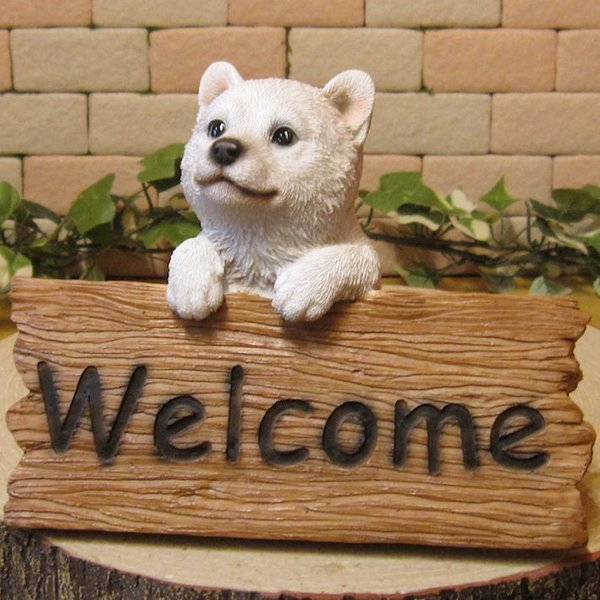 犬の置物 柴犬 秋田犬 北海道犬 ウエルカムボード 日本犬 リアルな犬の置物 子いぬのフィギア イヌのオブジェ ガーデニング 玄関先 陶器 zakkakirara 09
