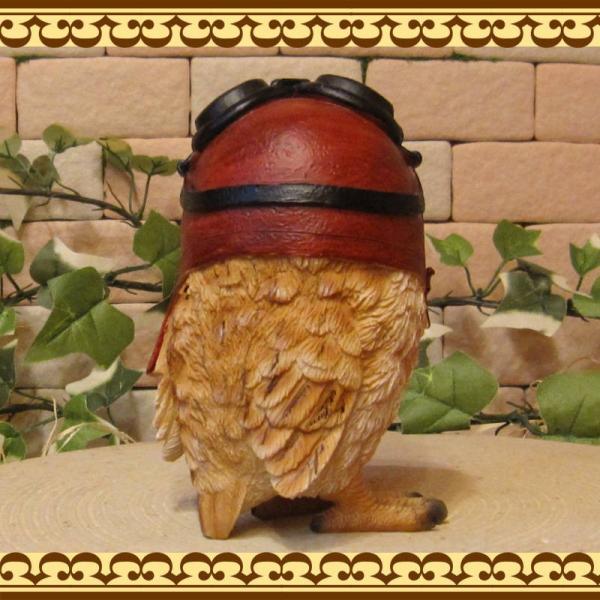 ふくろうの置物 ダンディー フクロウ Cタイプ リアルな鳥のフィギア 不苦労 縁起物 オウルオブジェ ガーデニング 玄関先 陶器|zakkakirara|08