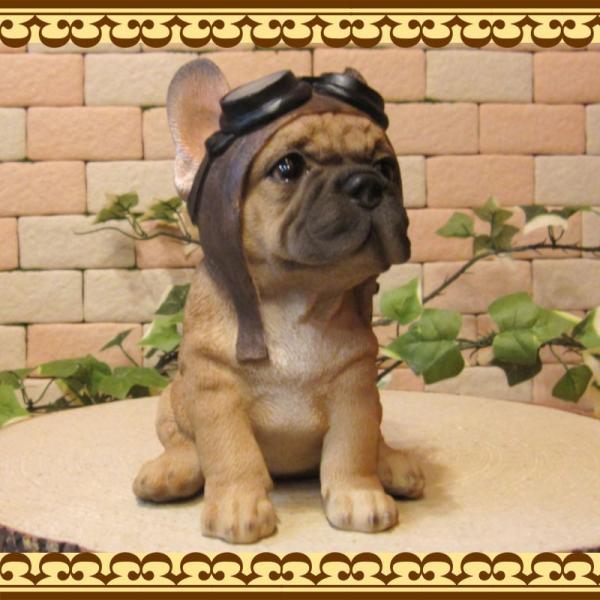 犬の置物 フレンチブルドッグ 置物 ダンディードッグ フレブル リアルな犬のフィギア 子いぬのオブジェ イヌ ガーデニング 玄関先|zakkakirara|04