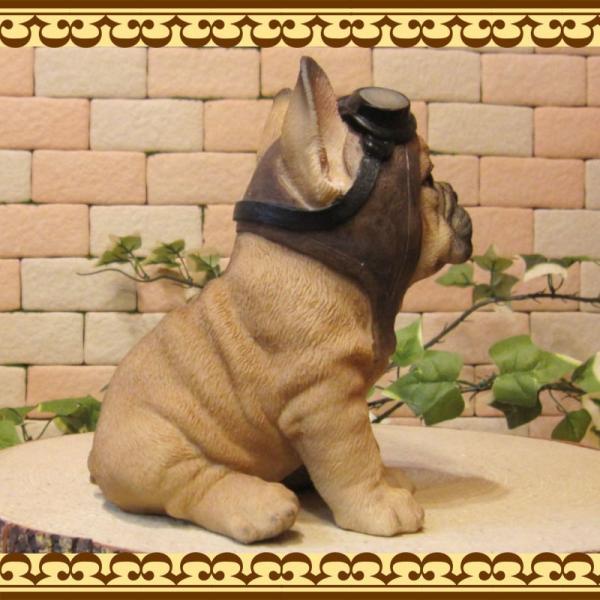 犬の置物 フレンチブルドッグ 置物 ダンディードッグ フレブル リアルな犬のフィギア 子いぬのオブジェ イヌ ガーデニング 玄関先|zakkakirara|05