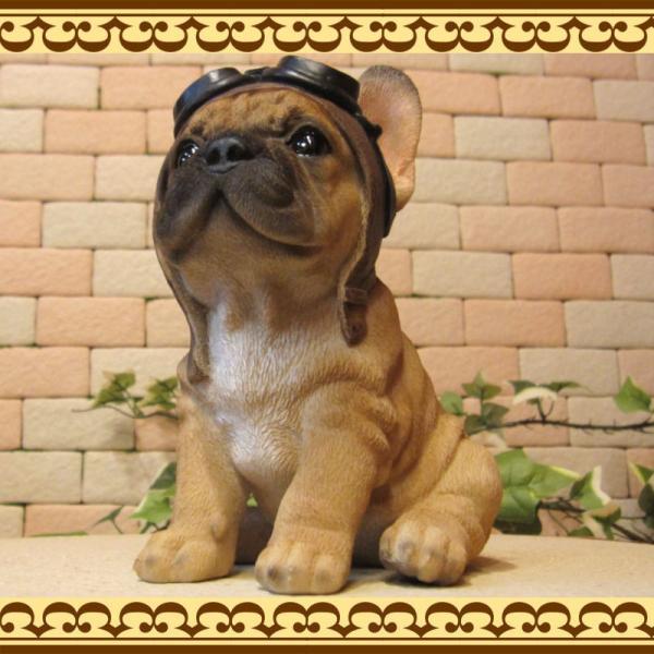犬の置物 フレンチブルドッグ 置物 ダンディードッグ フレブル リアルな犬のフィギア 子いぬのオブジェ イヌ ガーデニング 玄関先|zakkakirara|08
