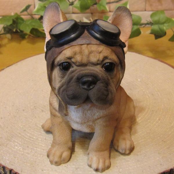犬の置物 フレンチブルドッグ 置物 ダンディードッグ フレブル リアルな犬のフィギア 子いぬのオブジェ イヌ ガーデニング 玄関先|zakkakirara|10