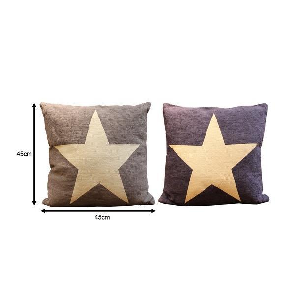 クッション カバーリング 45cm角 スター 星柄 ONE STAR クッション|zakkamag|02