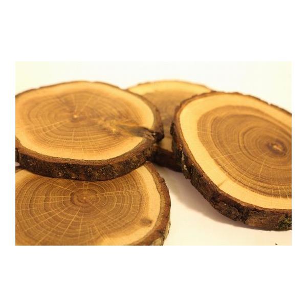 コースター セット 4枚 天然木 オーク材 オークウッド 輪切り Tree 4 Tea|zakkamag|04
