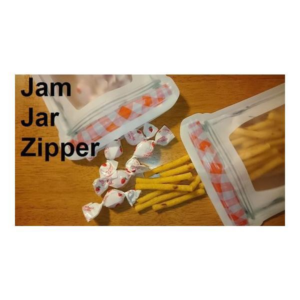 ジッパーバッグ キッカーランド おしゃれ 液漏れ防止 ジッパー ジャムジャー 種類 食洗機対応 Jam Jar Zipper Bags S M L|zakkamag|04
