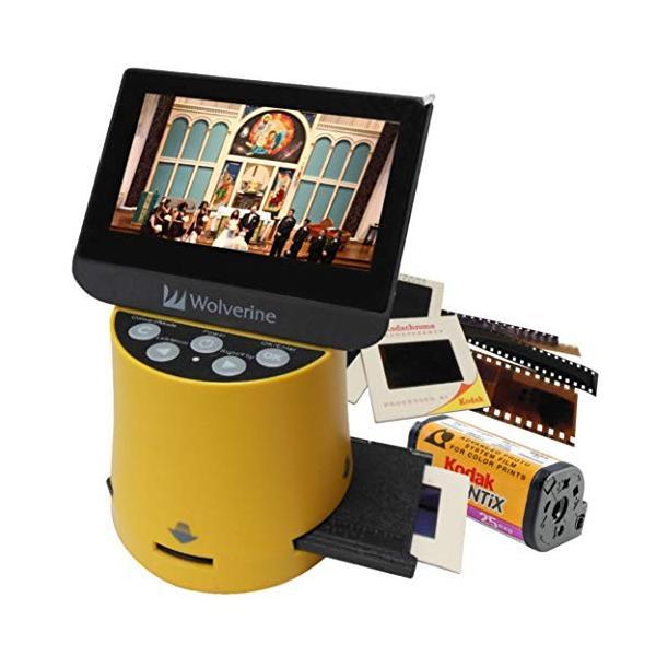 Wolverine フィルムスキャナー デジタルコンバーター TITAN 8イン1 高解像度 4.3インチスクリーン&HDMI 35mm 127フィル|zakkanoyamato