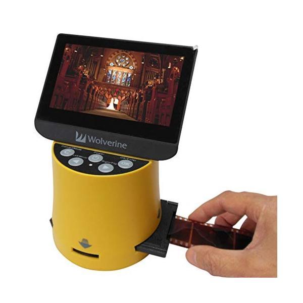 Wolverine フィルムスキャナー デジタルコンバーター TITAN 8イン1 高解像度 4.3インチスクリーン&HDMI 35mm 127フィル|zakkanoyamato|03