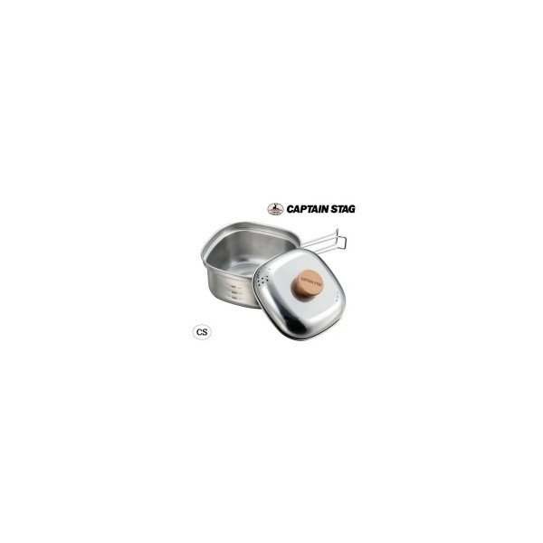 CAPTAIN STAG ステンレス角型ラーメンクッカー1.3L UH-4202 ふた付き 調理器具 鍋|zakkaso-ko