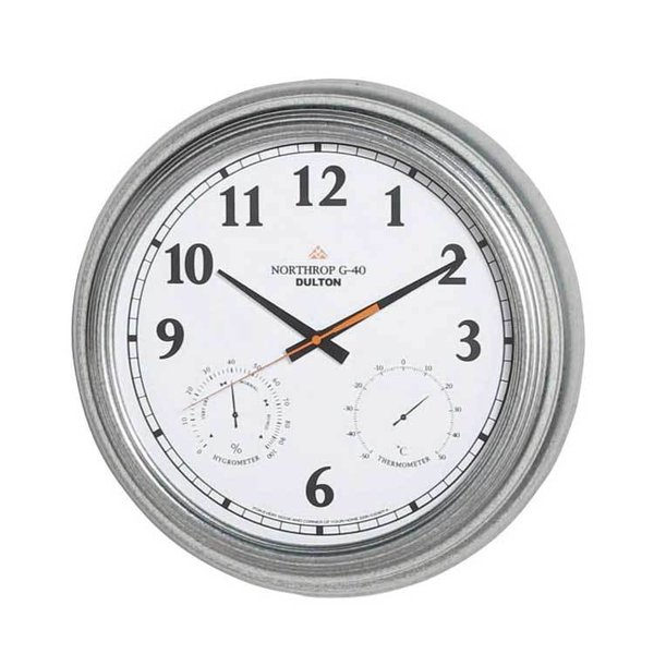 WALL CLOCK ''NORTHROP G-40'' WD ダルトン 時計 温度計 湿度計 壁掛け 壁 掛け時計 おしゃれ シンプル アンティーク