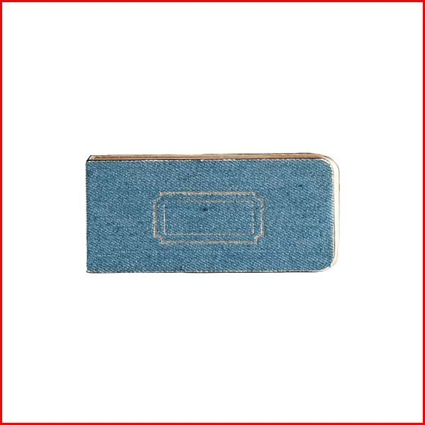 付箋 メモ スティックラベル クラフト紙 無地 再生紙 リサイクルペーパー デニム生地 文房具 ブルー TOOLS DENIM STICKY LABEL BLUE (6個セット)