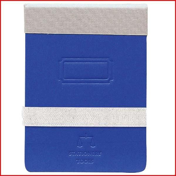 メモパッド メモ帳 方眼 再生紙 リサイクルペーパー ゴムバンド付き おしゃれ 文房具 ブルー TOOLS B7 MEMO PAD MARINE BLUE
