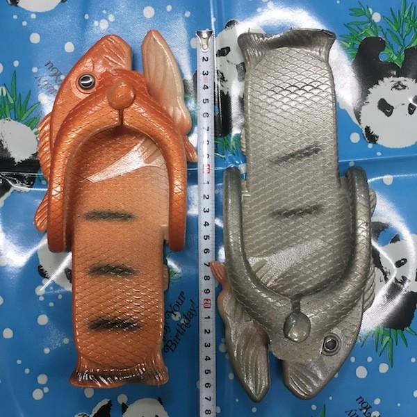 ぎょぎょぎょ!魚のビーチサンダル 23cm 23.5cm グレー系 レディース サカナ さかな ビーサン ビーチサンダル シーラカンス?実用性もバッチリ|zakkayakaeru|11