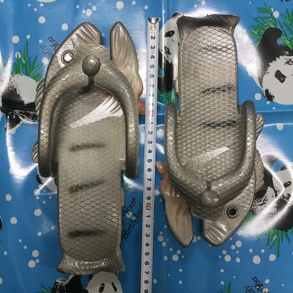 ぎょぎょぎょ!魚のビーチサンダル 23cm 23.5cm グレー系 レディース サカナ さかな ビーサン ビーチサンダル シーラカンス?実用性もバッチリ|zakkayakaeru|12