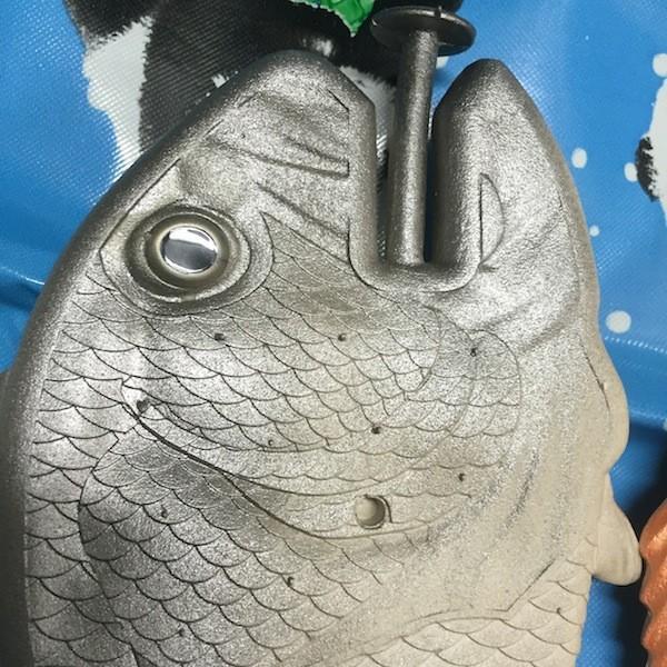 ぎょぎょぎょ!魚のビーチサンダル 23cm 23.5cm グレー系 レディース サカナ さかな ビーサン ビーチサンダル シーラカンス?実用性もバッチリ|zakkayakaeru|07