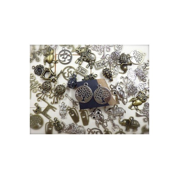 大きな木風 2ヶセット 銀 シルバーカラー  アクセサリーチャーム ハンドメイド パーツ エスニックパーツ add51884s|zakkayakaeru|04