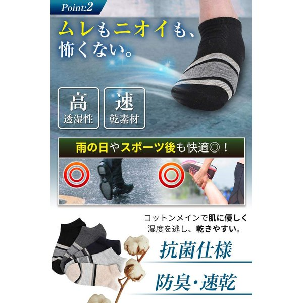IGRESS 靴下 メンズくるぶし ソックス 10足セット|zakkazenpan|04
