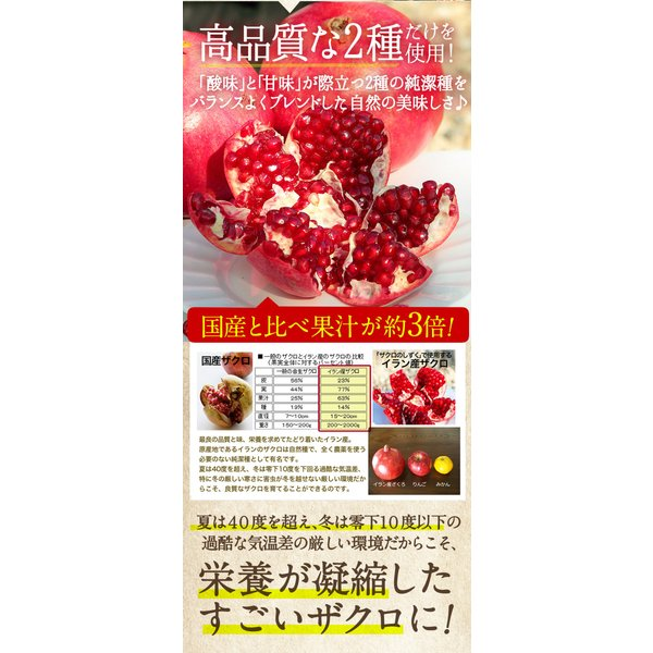 ザクロジュース 100% 約5L分 無農薬 健康ドリンクギフトザクロのしずく500ml  ギフト 包装 のし 無料 結婚祝い 出産祝い 冷え 免疫力|zakuroya|14