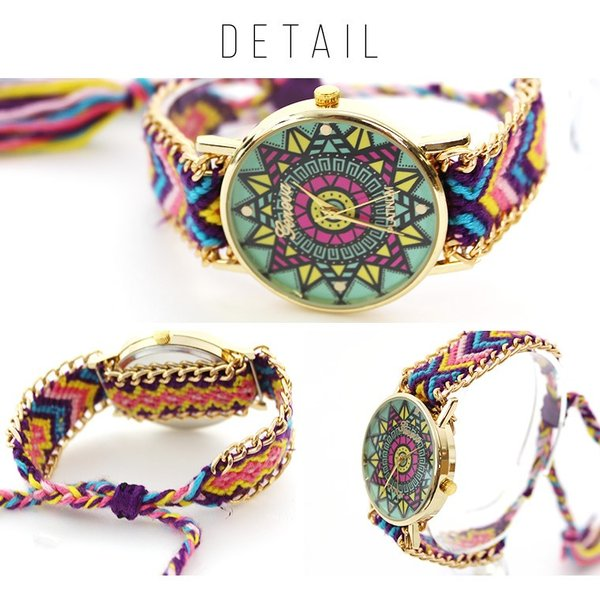 腕時計 激安 可愛い レディース 欧米 ボヘミア 民族風 手作り シンプル 学生 人気 編み|zakzak|05