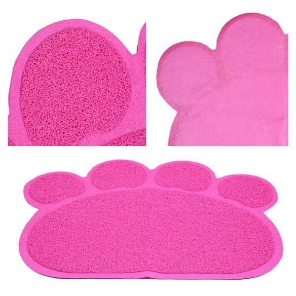 ペットフードマット ねこグッズ ペット用品 猫用品 食べこぼし 滑り止め 清潔 掃除 トイレマット 食事用 肉球 魚 フィッシュ 餌 猫砂 ねこ|zakzak|05