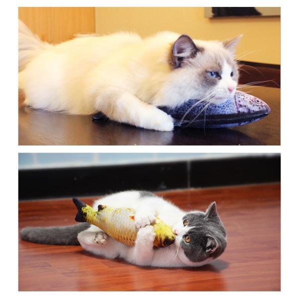 猫 おもちゃ ペット用品 ネコ 猫用品 蹴りぐるみ 魚 キッカー リアル またたび 人形 抱き枕 ぬいぐるみ 柔らかい 猫おもちゃ 可愛い 激安 zakzak 09