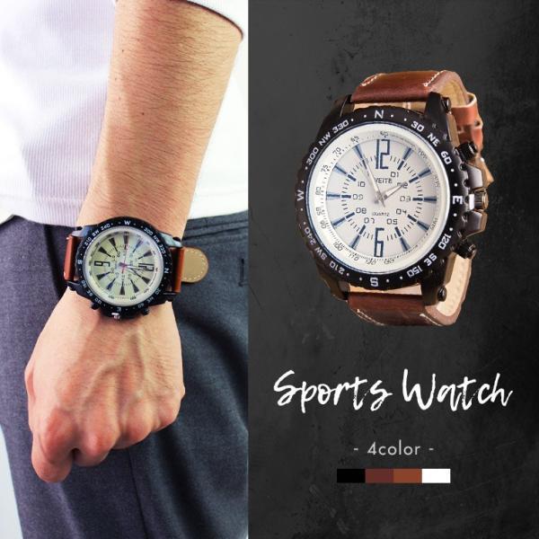 腕時計 大好評  スポーツウォッチ 4色 メンズ|zakzak