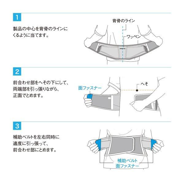 ザムスト ZW-4 ZAMST 腰 腰用 サポーター メッシュ 薄い 腰痛|zamst|05