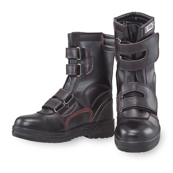 【取り寄せ】 おたふく手袋 安全靴 JW-775 (ZY418) 半長靴 マジック・紫箱