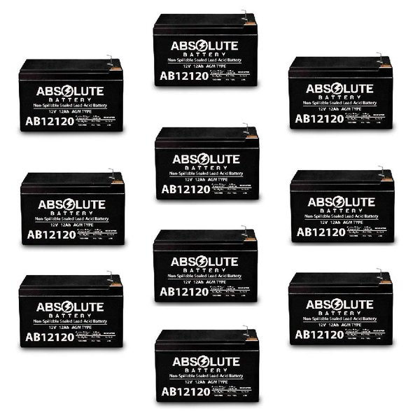 4 Pack AB12120 12V 12AH F2 Replacement Battery 4 Eaton Net UPS 700 Rackmount