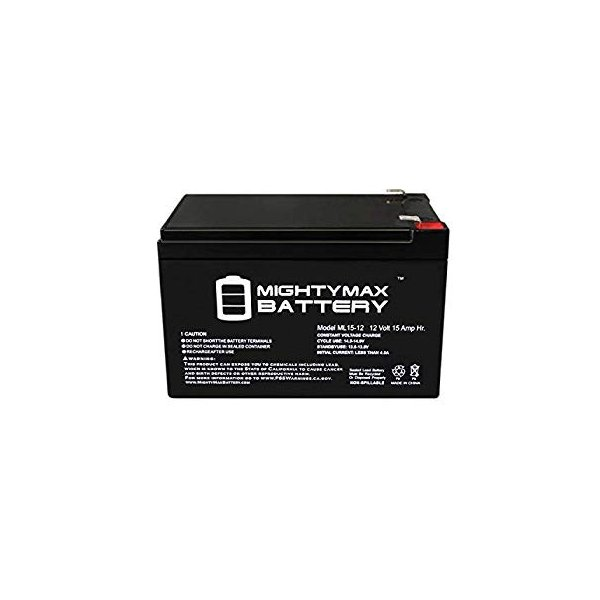 Mighty Max Battery 12V 15AH F2 Compatible Battery for APC SmartUPS 1000 1000RM 6 Pack Brand Product