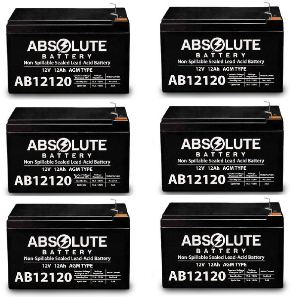 4 Pack AB12120 12V 12AH F2 Replacement Battery for Compaq T700 UPS