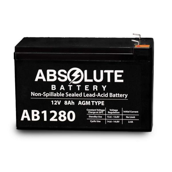2 Pack 12V 8AH AB1280 F1 Battery Replacement for APC Smart UPS 1400VA RM 3U