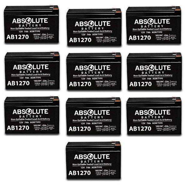 4 Pack New AB1270 12V 7AH SLA Battery Replacement for APC Smart-UPS SU1400RM2U